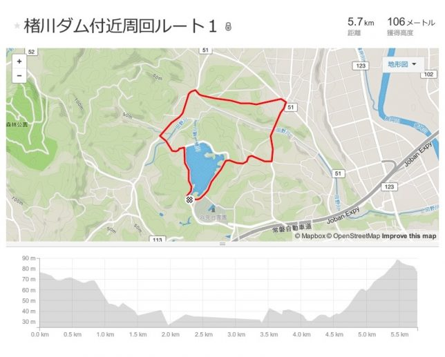 ②-0楮川ダム付近周回コース1